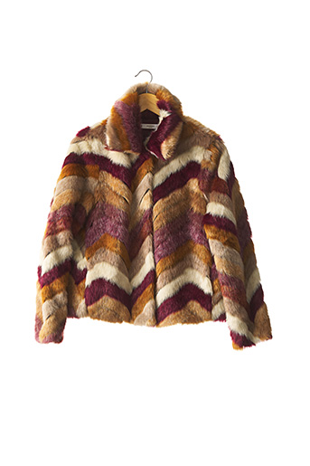 Manteau court rouge MANGO pour femme