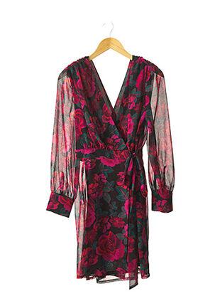 Robe mi-longue rose OPPULENCE pour femme