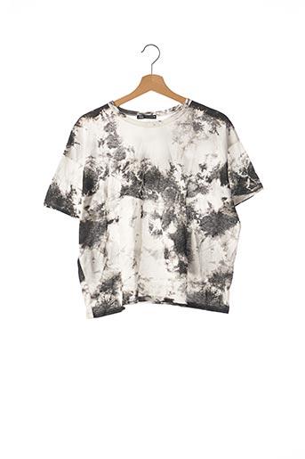T-shirt manches courtes noir ZARA pour femme