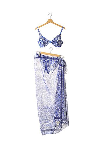 Maillot de bain 2 pièces bleu FERAUD pour femme