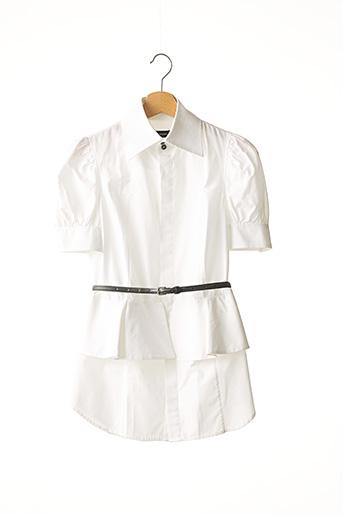Chemisier manches courtes blanc DSQUARED2 pour femme