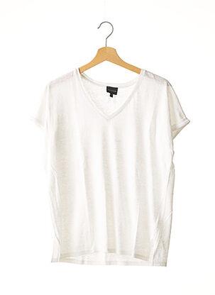 T-shirt manches courtes blanc BERENICE pour femme