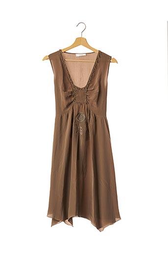 Robe mi-longue marron BELAIR pour femme