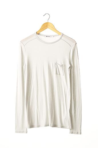 T-shirt manches longues gris ALEXANDER WANG pour femme