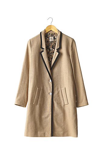Manteau long beige ATTIC AND BARN pour femme