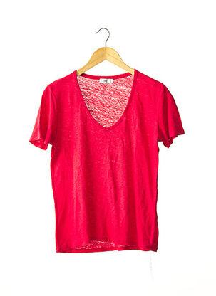 T-shirt manches courtes rouge CLOSED pour femme
