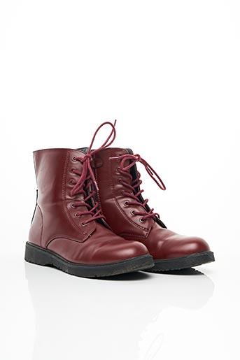 Bottines/Boots rouge BENETTON pour femme
