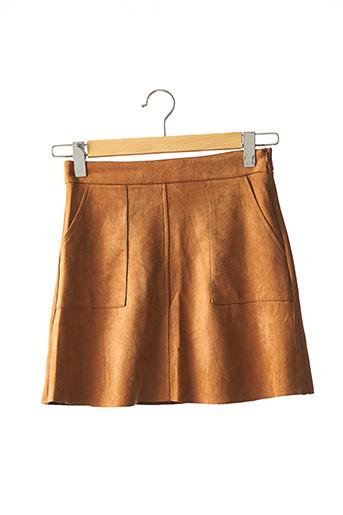 Jupe courte marron SHEIN pour femme