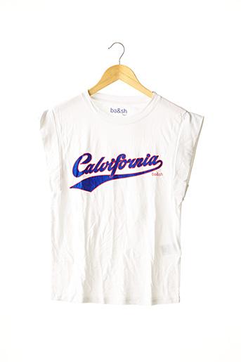 T-shirt manches courtes blanc BA&SH pour femme