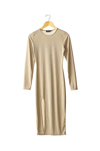 Robe longue beige PRETTY LITTLE THING pour femme