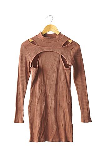 Robe mi-longue marron BOOHOO pour femme