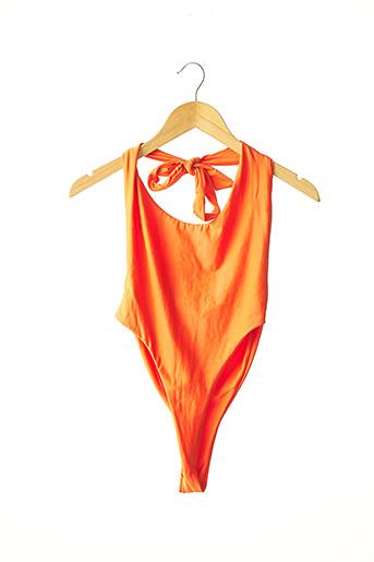 Maillot de bain 1 pièce orange PRETTY LITTLE THING pour femme