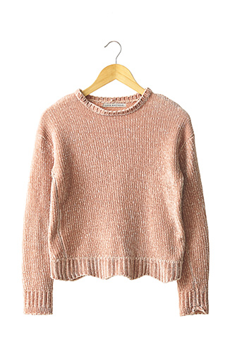 Pull col rond rose LOVE KNITWEAR pour femme