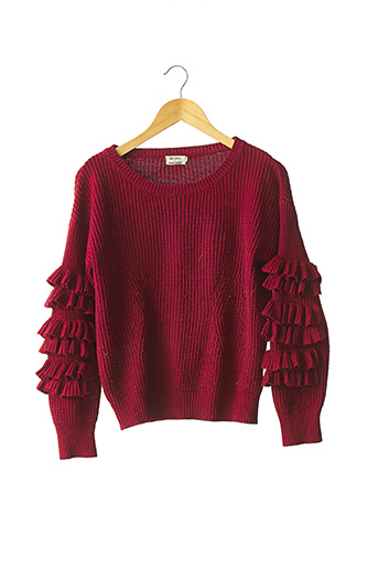 Pull col rond rouge LILI SIDONIO pour femme