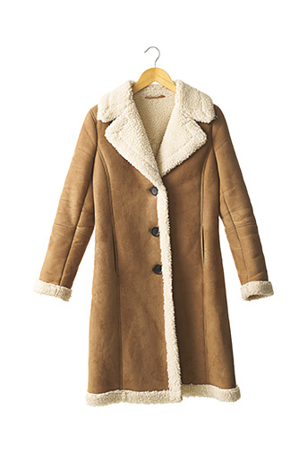 Manteau long marron BODEN pour femme