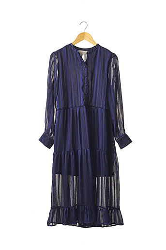 Robe longue bleu GRACE & MILA pour femme