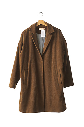 Manteau long marron CUSTOMMADE pour femme
