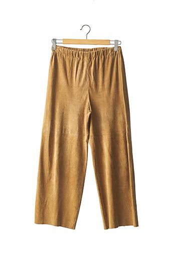 Pantalon casual beige SYLVIE SCHIMMEL pour femme