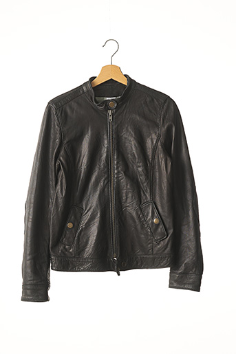 Veste en cuir noir ZADIG & VOLTAIRE pour femme