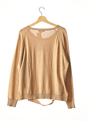 Pull col rond marron BARBARA BUI pour femme seconde vue