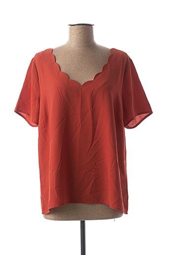 Blouse manches courtes orange VILA pour femme