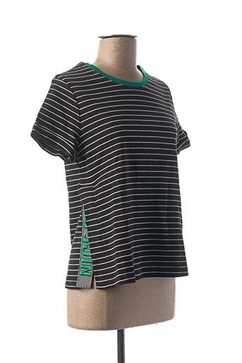 T-shirt manches courtes noir SUNCOO pour femme