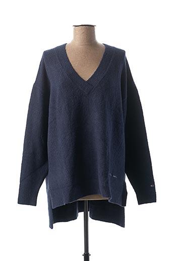 Pull tunique bleu TOMMY HILFIGER pour femme