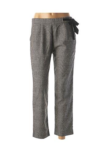 Pantalon 7/8 gris SUNCOO pour femme