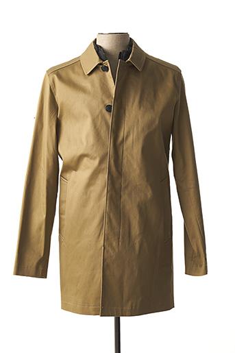 Manteau long beige SELECTED pour homme