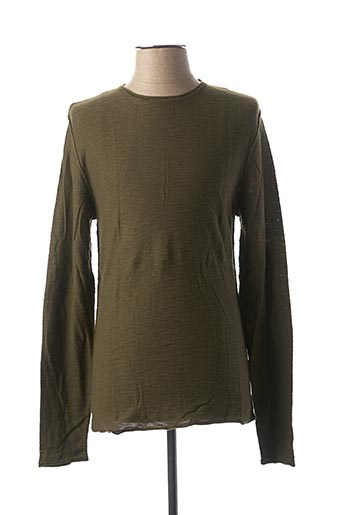 Pull col rond vert CASUAL FRIDAY pour homme