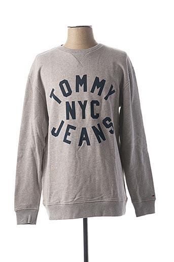 Sweat-shirt gris TOMMY HILFIGER pour homme