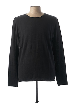Pull col rond noir SELECTED pour homme