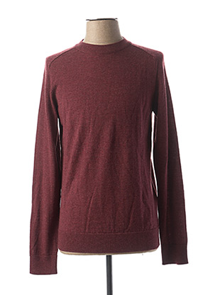 Pull col rond rouge SELECTED pour homme