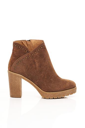 Bottines/Boots marron REQINS pour femme