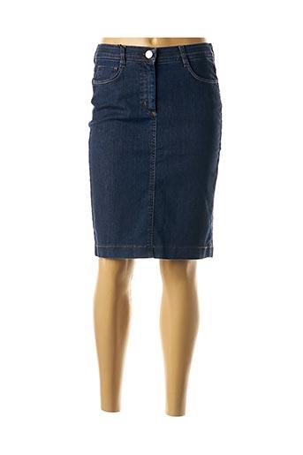 Jupe mi-longue bleu EAST DRIVE pour femme