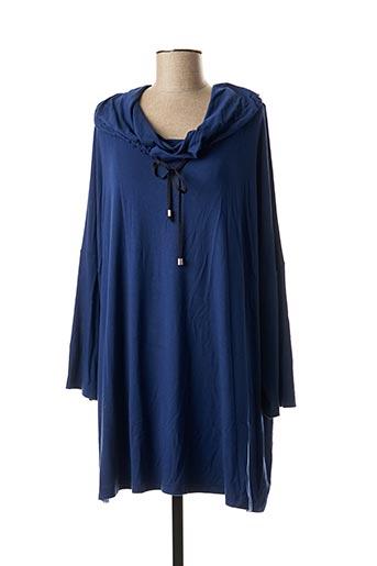 T-shirt manches longues bleu EXELLE pour femme