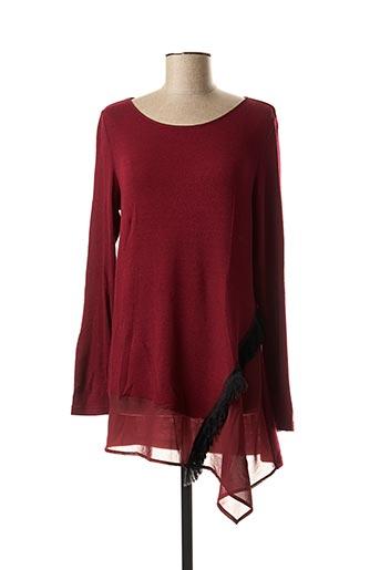 Pull tunique rouge DIAMBRE pour femme