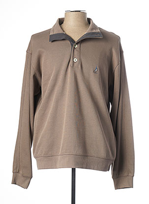 Pull col chemisier beige TBS pour homme