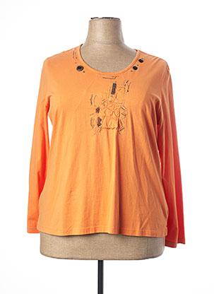 T-shirt manches longues orange JAC JAC pour femme