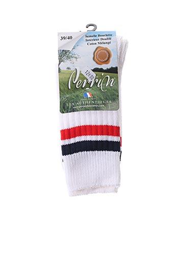 Chaussettes blanc PERRIN pour homme
