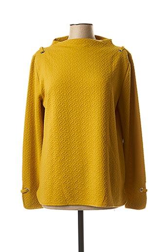 T-shirt manches longues jaune MASSANA pour femme