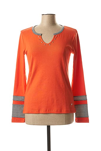 T-shirt manches longues orange THALASSA pour femme