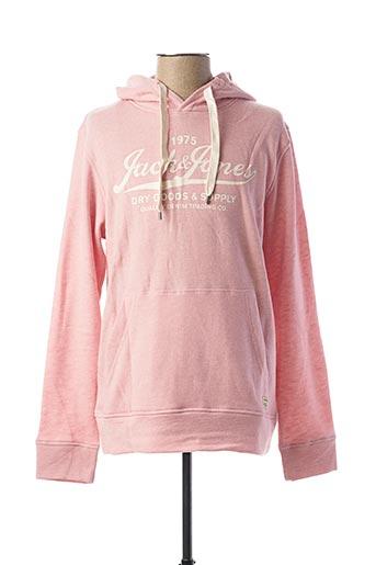 Sweat-shirt rose JACK & JONES pour homme