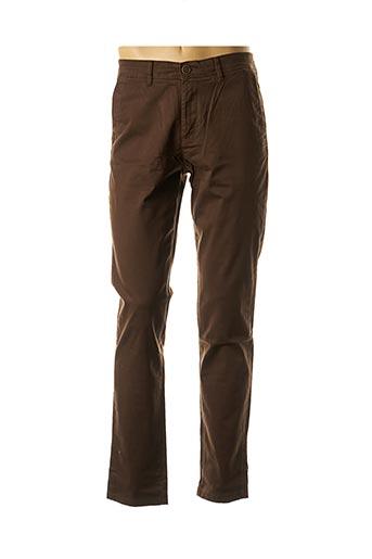 Pantalon chic marron JACK & JONES pour homme