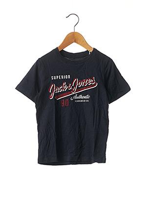 T-shirt manches courtes bleu JACK & JONES pour garçon