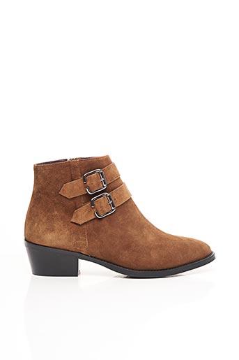 Bottines/Boots marron ANAKI pour femme
