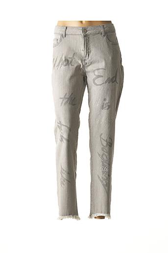 Jeans coupe slim gris DOLCEZZA pour femme