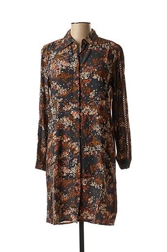Robe courte marron SCOTCH & SODA pour femme