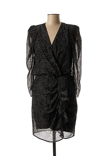 Robe mi-longue noir BA&SH pour femme