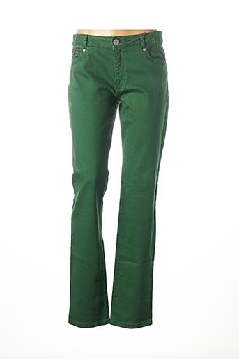 Jeans coupe droite vert D.SPORT pour femme